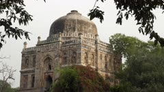close up of shish gumbad tomb in lodhi gardens of delhi, india