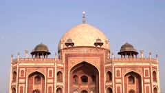 an afternoon close up of the world heritage listed humayun's tomb in delhi, india