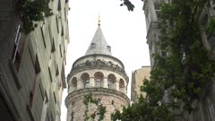 a low angle close view of galata tower in istanbul, turkey
