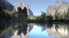 afternoon view of el capitan, bridal veil falls and the merced river in yosemite national park in california, usa