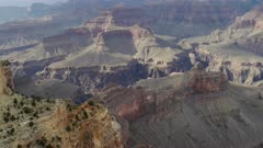 close up pan of the grand canyon from maricopa point at the grand canyon national park in arizona, usa