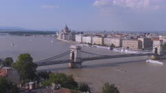 spring afternoon view of the city budapest and danube river from buda castle in hungary