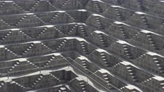 close view of chand baori, a stepwell situated in the village of abhaneri in the indian state of rajasthan