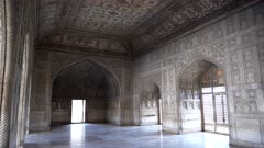 interior clip of khas mahal palace at red fort in agra, india