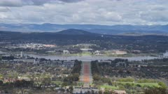 spring morning timelapse of canberra from mt ainslie lookout in the australian capital territory of australia