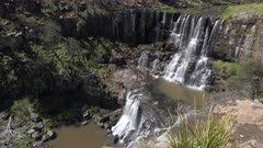 close up view of the upper section of ebor waterfall in the new england region of nsw, australia