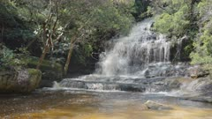 slow motion shot of upper somersby falls near gosford on the nsw central coast- originally recorded at 120p