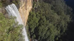 high frame rate close up of the top of fitzroy falls at morton national park in the nsw southern highlands of australia