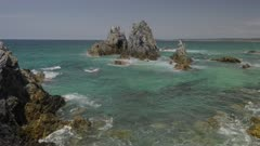 midday clip of camel rock at bermaguii on the nsw south coast of australia