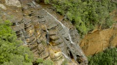 wentworth falls from fletchers lookout in the blue mountains national park of nsw, australia
