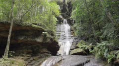 tilt down clip of empress falls at katoomba in the blue mountains of nsw, australia