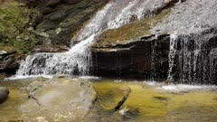 slow motion shot of the base of empress falls at katoomba in the blue mountains of nsw, australia