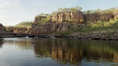 rapids at the top of the first gorge at nitmiluk gorge, also known as katherine gorge at nitmiluk national park in the northern territory of australia
