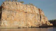 early morning shot of the cliff known as jeddas leap in nitmiluk gorge, also known as katherine gorge at nitmiluk national park in the northern territory