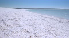 close view of shell beach at shark bay in western australia