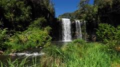 Dangar Waterfalls, basde ultrawide, river out running. slowmotion