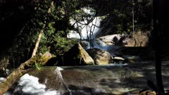 Josephine Waterfalls. two cascades, slowmotion