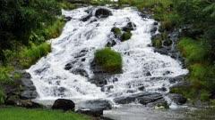 Mungalli Waterfall,upper cascade, slowmotion