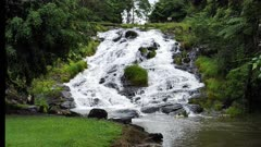 Mungalli Waterfalls. upper cascades wide, slowmotion