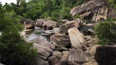 Murray Falls river down granite boulders, slowmotion
