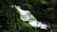 Souita Falls falls and river down stream, cascade, slowmotion