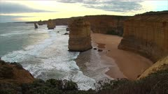 The 12 Apostles, Great Ocean Road, late afternoon, wide