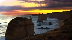 The 12 Apostles, Great Ocean Road, late afternoon,sunset