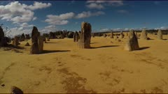 The Pinnacles Desert POV 2 shot, gimbal shot, wide