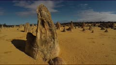 The Pinnacles Desert POV 3 shot, gimbal shot, wide