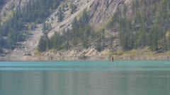 Paddle Boarders Seton Lake Lillooet BC Canada