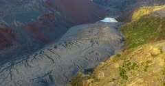 Aerial view of the Chaiten volcano 4K