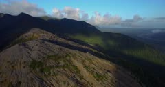 Aerial view from the Chaiten volcano 4K