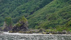 Natural landscape of the Chilean patagonia, video recorded on a boat