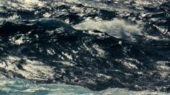 storm waves filmed in slow motion - sea video decor