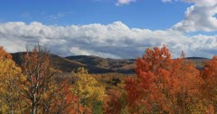 Brilliant beautiful autumn mountain valley. Beautiful season Autumn fall colors in Aspen, Oak and Pine forest. Wasatch Mountains in Manti La Sal Forest central Utah. Golden yellow, golden, red and orange  leaves. Exploring natural landscape before winter. Early winter snow seasonal weather. Nature and creations of Earth. 4K UHD HD video footage. Despain Rekindle Photo. 662