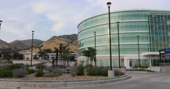 Primary Children's Hospital Salt Lake City pan. Research and teaching hospital on the campus in Salt Lake City, Utah. Specialties, cardiology, geriatrics, gynecology, pediatrics, pulmonology, neurology, oncology, orthopedics, and ophthalmology. Medical complex University and Primary Children's Hospitals, Moran Eye Center, Huntsman Cancer Institute, Dental School, clinics and Diabetes Center. Doctors Residents save lives. 4K HD video footage. Despain Rekindle Photo. 5764