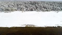 Snowy Coastline, Aerial