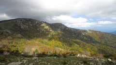 Spain landscape timelapse in the Albera Massif natural park, Catalonia, Alt Emporda, Girona province