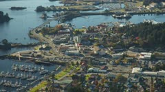 Scenic aerial view of the city of Sitka,Alaska