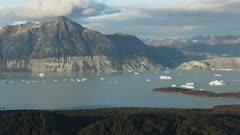 Icy Southeast Alaskan coast near Glacier Bay National Park