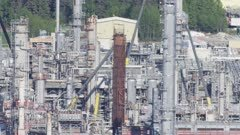 Oil refinery on the coast of the Cook Inlet at Nikiski, Alaska