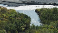 Scenic view of a river in Katmai National Park, Alaska