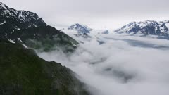 Scenic view of the mountains near Prince William Sound, Alaska