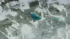 Close up of crystal blue ice in a beautiful glacier in Glacier Bay National Park, Alaska