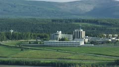 Aerial shot of the University of Alaska Fairbanks