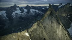 Aerial shot of the stunning Arrigetch Peaks in Gates of the Arctic National Park,Alaska