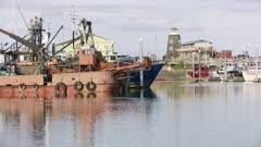 Boats and Lighthouse at the Homer Boat Harbor, Alaska