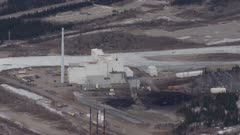 Aerial shot of the Healy Clean Coal Plant in Interior Alaska