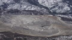 Aerial shot of the Usibelli Coal Mine in Interior Alaska