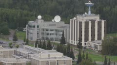 Aerial view of the University of Alaska Fairbanks